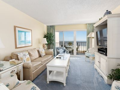 Photo for Elegant yet comfortable oceanfront condo!! Located in the Beach Club complex!