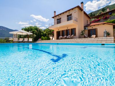 Photo for Villa 'Magnolia' a luxurious residence with a pool and outstanding sea view