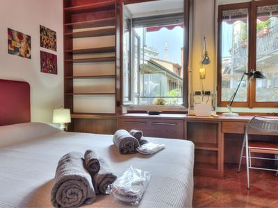Photo for Central apartment Duomo view with balcony, air conditioning and wi-fi