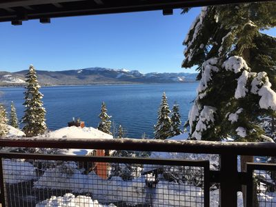 Photo for Luxury Lake Front, Stunning Views from 3 Levels - Minutes to Alpine and Squaw