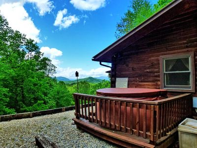 Photo for Log Cabin with beautiful views and a hot tub.