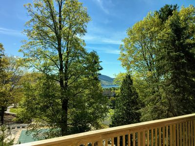 lake view from the deck,  pool and tennis areas steps away