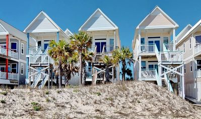 "Photo for Ready Now- No Storm Issues! FREE BEACH GEAR! Beachfront, Pet Friendly, Free Wi-fi, 3BR/3BA ""Above The Dune"""