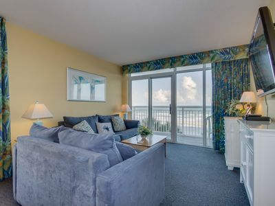 Photo for Oceanfront corner unit, great resort, tons of pool amenities (in tower 1)