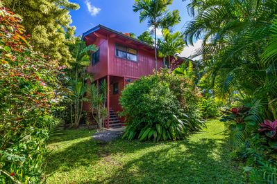 Hale Lu Ya house, at end of quiet, upscale cul de sac in Hanalei.  Great locale.
