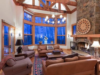 Photo for Play a Game of Billiards or Sling Drinks at Your Own Bar at this Stately Ski In Ski Out Log Cabin wi