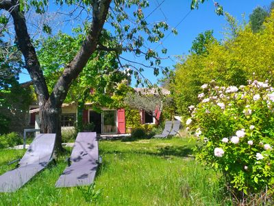 Photo for Gites de la Bernadelle farmhouse in the heart of the Cevennes nature pool 7x4 internet