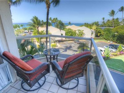 Photo for Stunning Ocean views from the front of G-building at Maui Banyan. 2bd 2ba sleeps 6. G-302