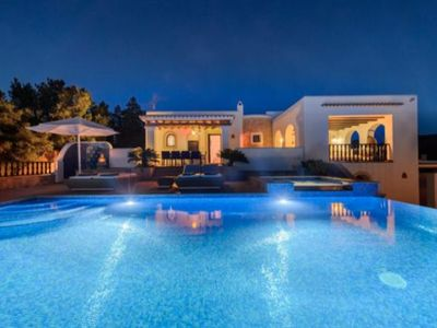 Photo for Catalunya Casas: Villa Azalea in Ibiza with amazing 180° views. Up to 8 guests!