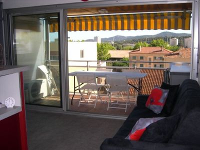 Photo for LAVANDOU The Mediterranean Apartment, 4personnes, renovated and air conditioned.