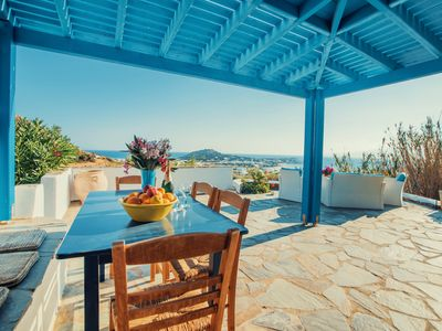 Photo for PRIVATE VILLA WITH OUTSTANDING VIEWS, CLOSE TO MIKRI VIGLA BEACH, CAN SLEEP 10