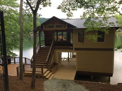 Photo for Newly renovated lake cabin with 20 foot Nanawall window... Designers Dream