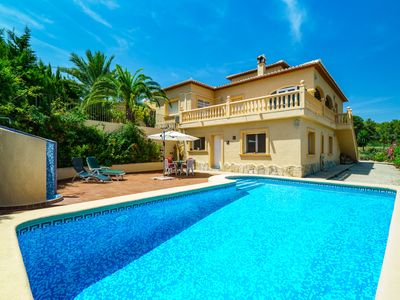 Photo for This 1-bedroom villa for up to 8 guests is located in Javea and has a private swimming pool, air-con