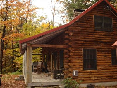 Photo for Romantic Log Cabin in Jackson, New Hampshire
