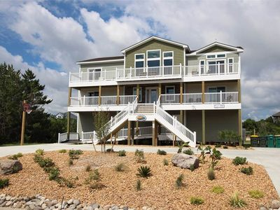 Photo for #410: Partial OCEANVIEW Corolla w/HtdPool, HotTub, Elev, RecRm & ThtreRm