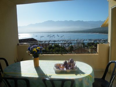 Photo for Calvi 2rooms, 4pers, dream view, air conditioning, parking
