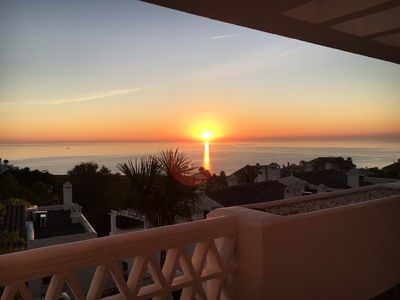Photo for Lovely holiday home near Estepona with formidable sea views in closed area