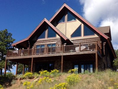 Photo for CRIPPLE CREEK/Luxurious Log Home, Privacy, Stunning Views