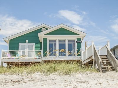 Photo for Selah: 3 Bed/2 Bath Oceanfront Home with Sun Room on Oak Island