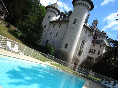 Photo for Castle apartment in former chapel with swimming pool