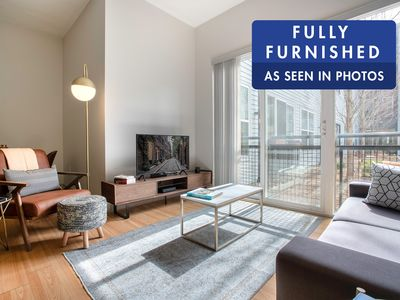 Photo for Modern South Boston 1BR w/ Gym, W/D by Seaport & Lawn on D by Blueground