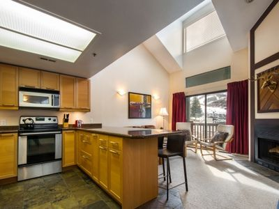 Photo for FREE RIVER RAFTING OR FREE SKI RENTAL !! Top Floor Unit w Vaulted Ceilings & Mountain Views!
