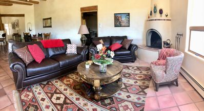 Photo for Magnificent 360 degree VIEWS, Santa Fe style decor & WALK TO PLAZA!
