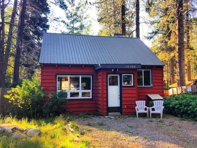 The Little Red Cabin.