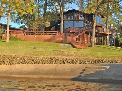 Photo for Ultimate Open-Water Lakefront! Lake views from almost every room in the house!