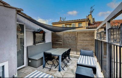 Photo for Luxury Renovated Townhouse with terrasse and parking in the old Village of St-Tr