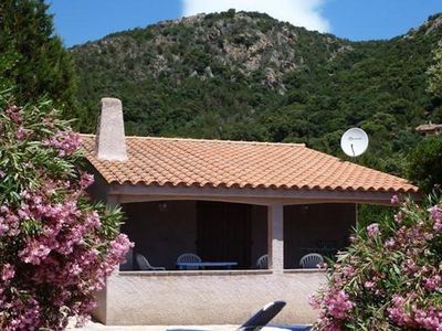 Photo for INEPENDANTE VILLA WITH SWIMMING POOL AND TENNIS - VIEW ON THE BEACH OF PALOMBAGGIA -