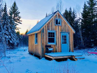 Photo for Secluded, Cozy Off Grid Cabin In the Maine Woods