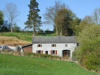 Photo for Pretty family farm cottage with wood stove in a beautiful Walloon village