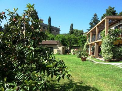 Photo for Ancient villa with a large garden and swimming pool in Val di Cecina