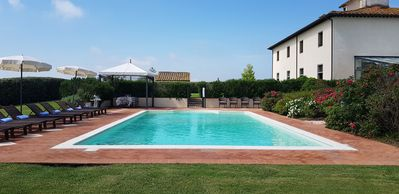 Photo for 9 bedroom Villa, sleeps 18 with Pool, Air Con, FREE WiFi and Walk to Shops
