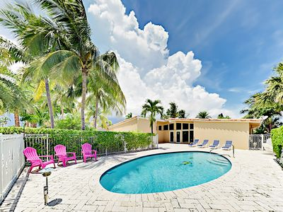 Photo for Sleek Waterfront 3BR w/ Private Pool, Patio & Ping Pong - 500 Yards to Beach