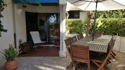 Photo for 1BR Apt by the beach, with terrace, garden & swimming pool for 4 - CHECKINHOME