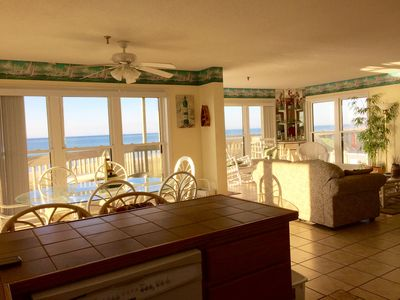Photo for Oceanfront Pointed 3BR, 2 bath, 1st floor pointed unit next to pool & beach acce