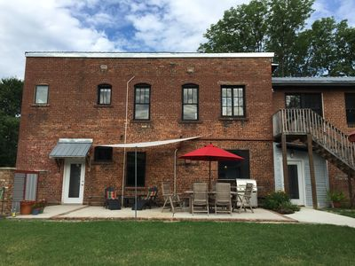 1920 Firehouse features a private, spacious 1-bedroom loft apartment upstairs.