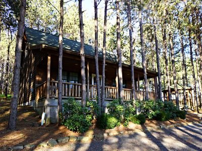 Photo for Whispering Pines Cabin - Lake Area Home with Fire Pit
