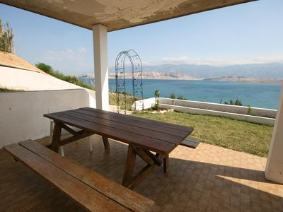 Photo for Two bedroom apartment with terrace and sea view Bošana (Pag)