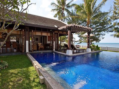 Photo for Beachfront Villa With Private Pool & Lovely Garden