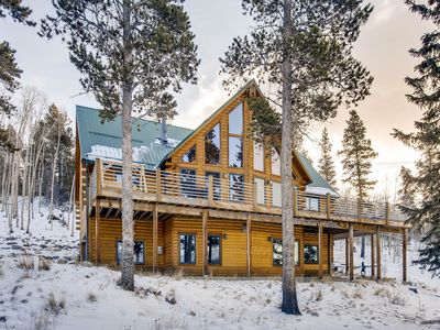 Photo for The Timbers At Glacier Ridge a Log Home- 4 bedrooms, hot tub, gameroom, magnificent Mountain views