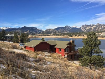 Photo for BEST VIEW in Estes Park! 2nd of 2 adjacent STUNNING cabins on Lake Estes #3449