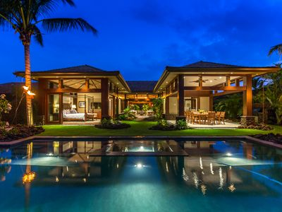 Photo for Hualalai 72-121 Pakui~Contemporary 5 bd Island Style Luxury Home~private pool