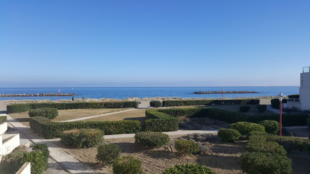 Apartment 45 m², exceptional sea views and direct access to the beach - Le  Barcarès