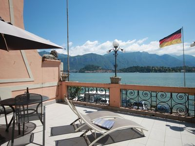 Photo for Lake View Suite with amazing view and terrace, 5 minutes walk from Tremezzo