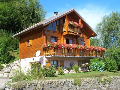 Photo for Authentic mountain chalet with stunning views.