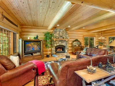 Photo for Grand Log Cabin Style Home, in Gated Community and Walking Distance to Lake Tahoe (ST60)