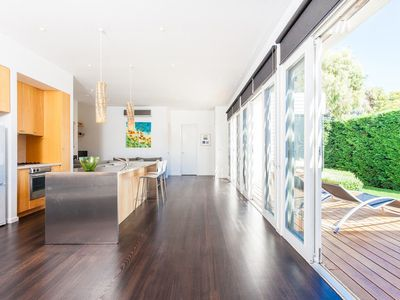 Photo for Hedge Hideaway  - Private stylish beach house walking distance to Portsea pier and hotel